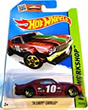 Hot Wheels 2015 Hot Wheels 2015 '70 Chevy Chevelle HW Workshop Red 194/250, Long Card by Mattel