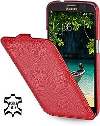 StilGut UltraSlim Case, custodia in vera pelle per Samsung Galaxy Mega 6.3 i9200 Mega LTE i9205 i9208, rosso