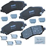 Bendix CFC1327 Premium Copper Free Ceramic Brake Pad (with Installation Hardware Front)