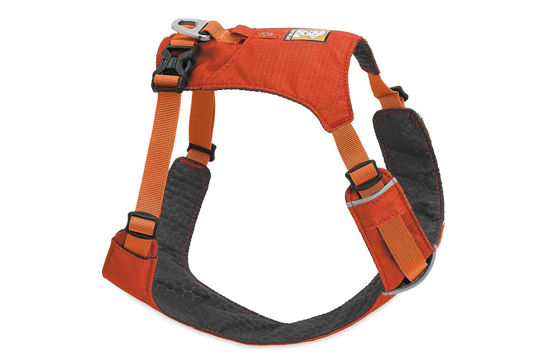 Ruffwear Harnais léger pour chien, Chiens de très petite taille, Ajustement sur mesure, Taille : XS, Rouge (Sockeye Red), Hi & Light Harness, 3082-601S1