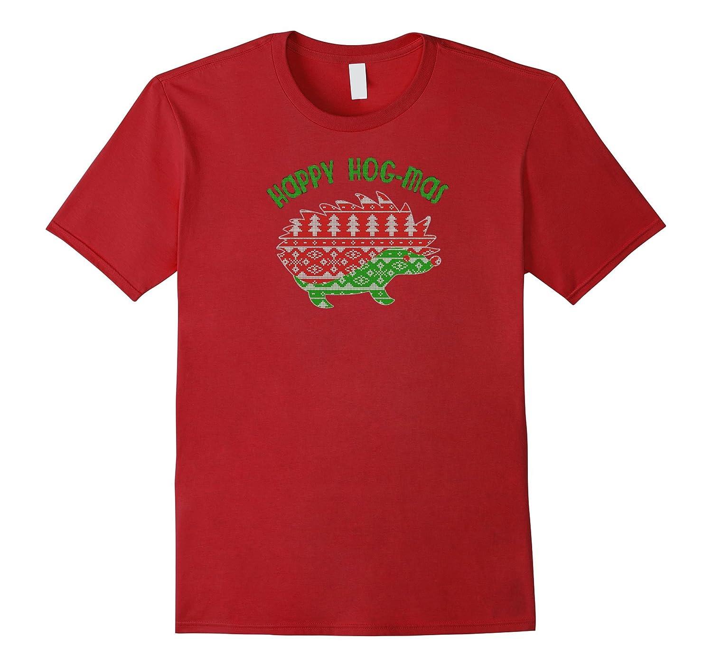 Hedgehog Christmas Sweater.Happy Hog Mas Cute Hedgehog Christmas Sweater Tee Shirt Anz