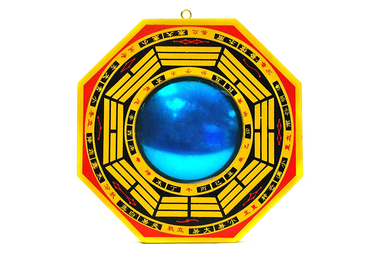 BFlowerYan Tradizionale Cinese Feng Shui Bagua Mirror Multi 4-inch Legno
