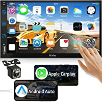 Car Stereo Compatible with Apple Carplay & Android Auto, Hieha 7 Inch Double Din Car… photo