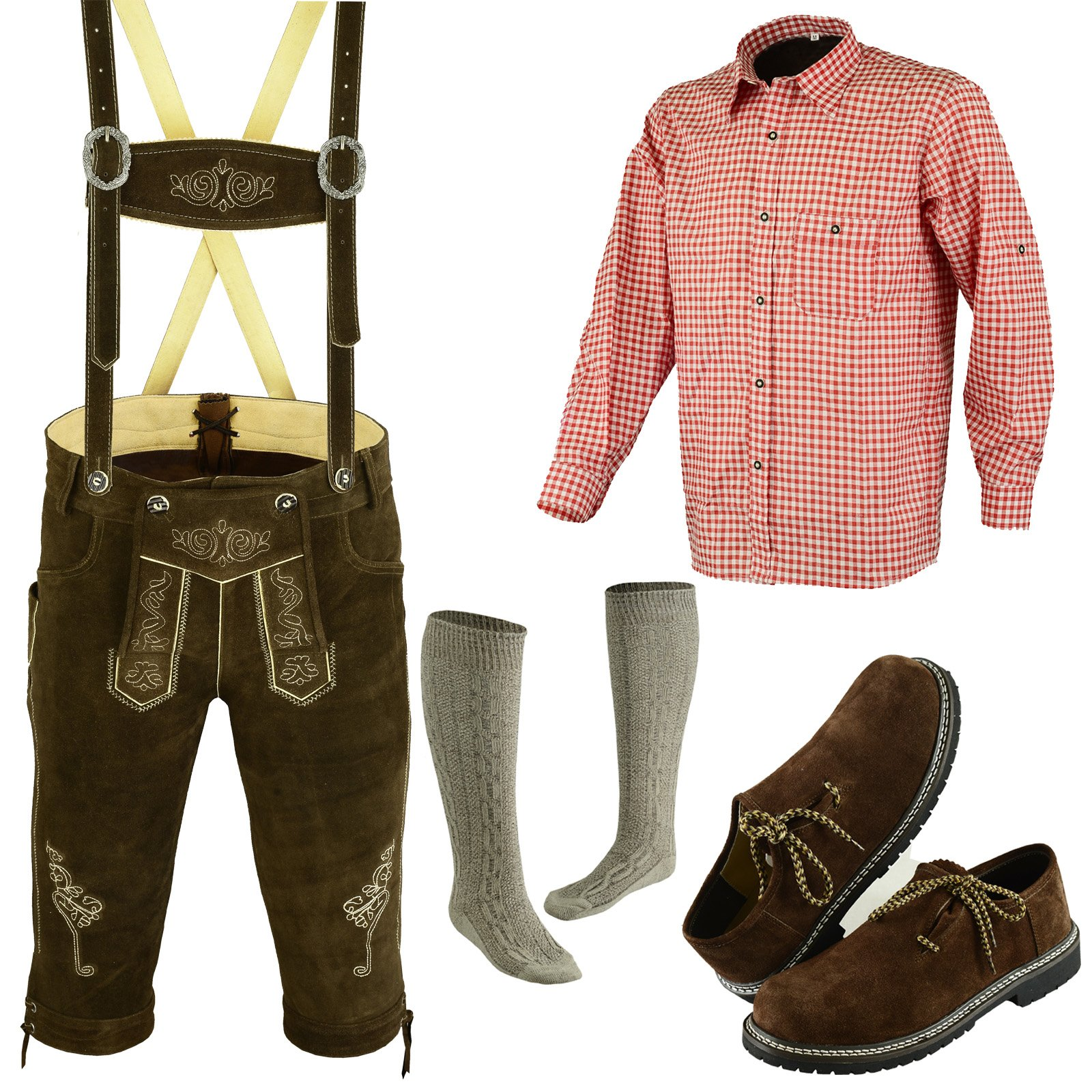 German Bavarian Oktoberfest Trachten Lederhosen Complete Outfit (34)