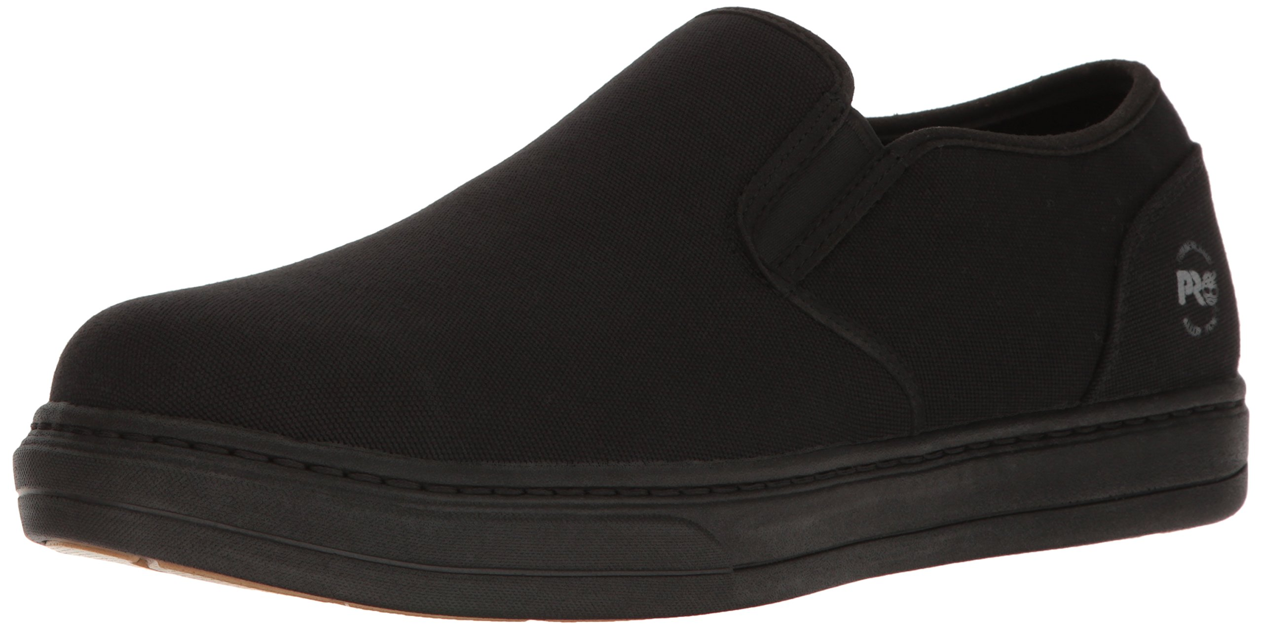 Timberland PRO Men's Disruptor Slip-on Alloy Safety Toe EH Industrial and Construction Shoe, Black/Black Canvas, 8 M US