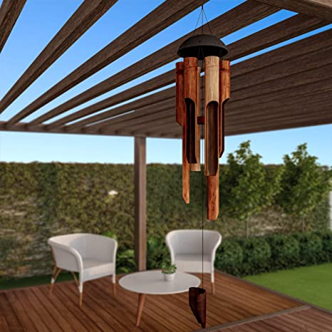 "68cd469ad Pure Garden 50-LG1051 Bamboo Chime-38"" Natural Environment Conscious, Hand  Crafted"