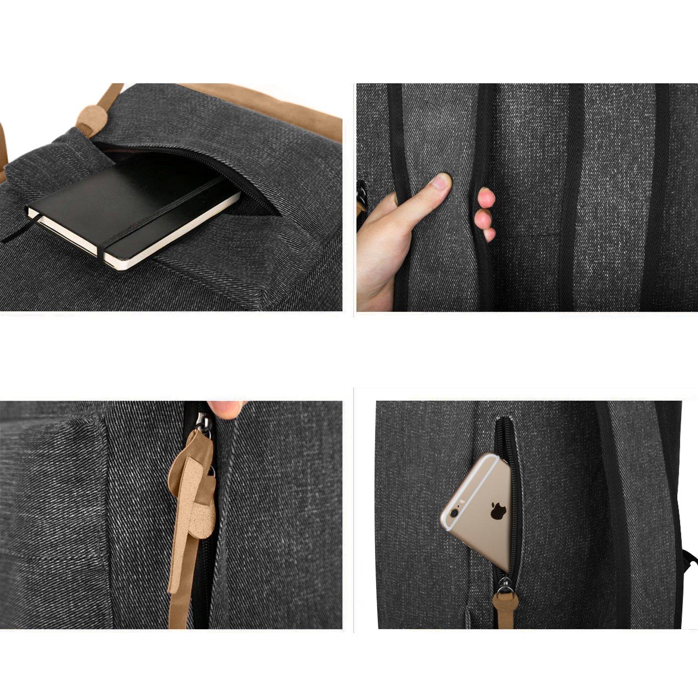 ecocity classic vintage college school laptop backpack bag pack