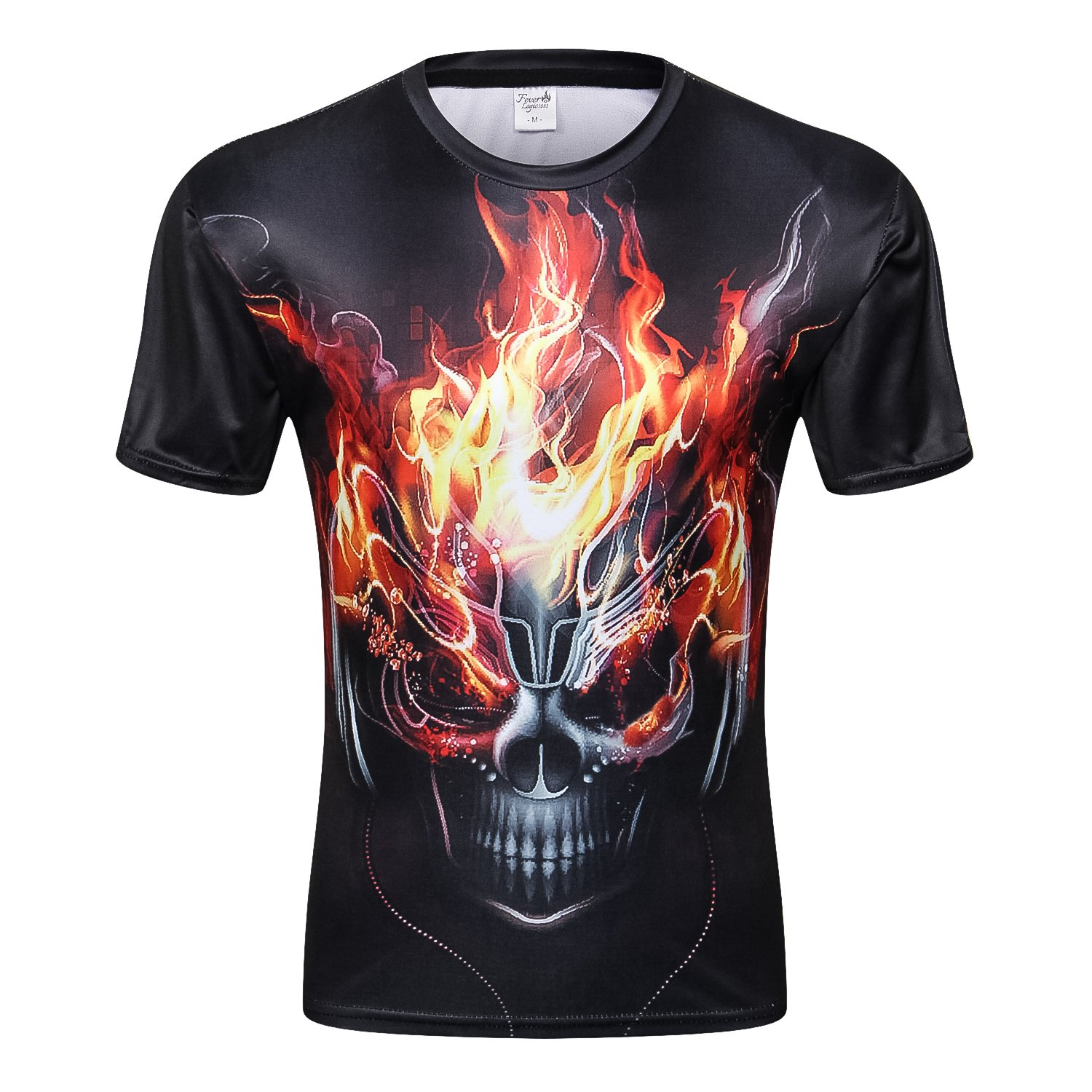 Skull 3D Print T Shirt Multiple Designs Short Sleeve Creative Fashion (CC0019, M)