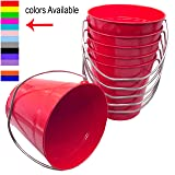 Italia 6-Pack Metal Bucket 0.5 Quart Color Red Size 4.3x