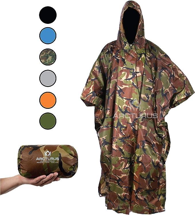 Best Hunting Rain Gear: Arcturus Rain Ponchos for Adults
