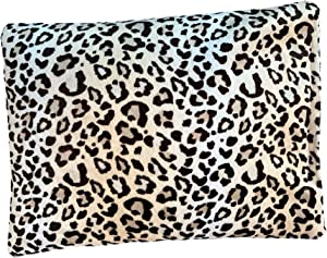 """Solayman's Buckwheat Heating Pad- Leopard 10x8"""" - Moist Heat Therapy Pillow - Cooling and Heating Pads for Back Pain, Joint, Shoulder, Cramps, Muscle Soreness & Migraine Pain Relief"""