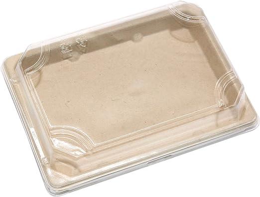 4 G - Bandejas de sushi rectangulares desechables biodegradables ...