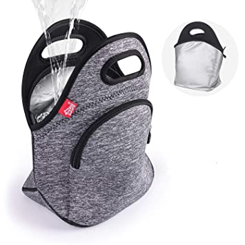 Amazon.com: Bolsa de almuerzo impermeable de doble capa a ...
