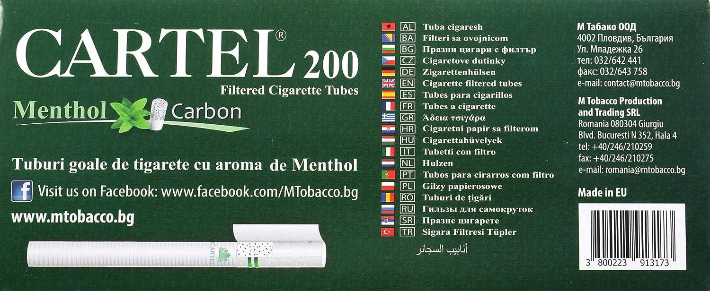 Amazon.com: Cartel Carbon Menthol Filtered Cigarette Tubes ...