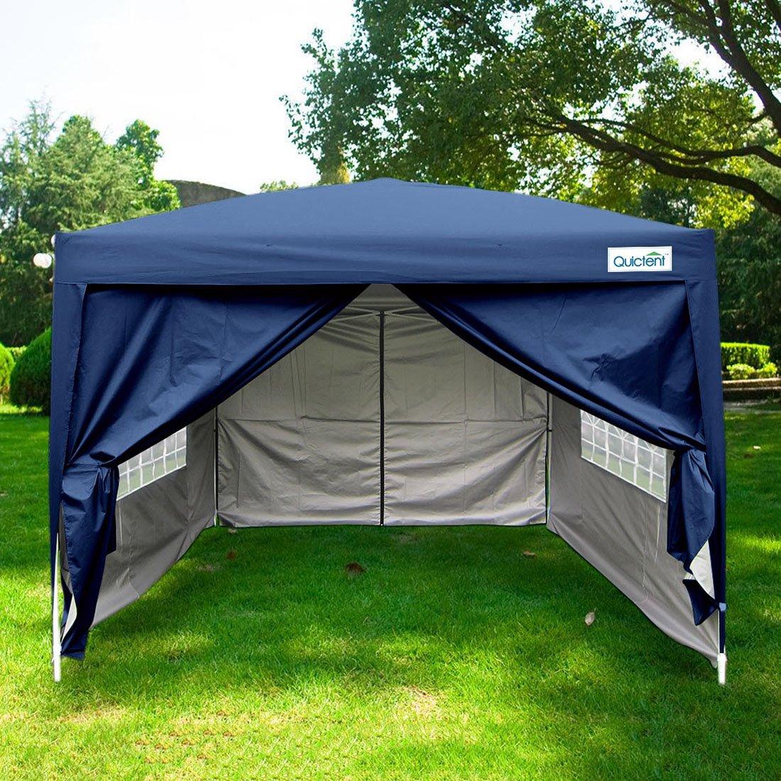 Peaktop10x10 Navy Blue EZ Pop Up Party Tent Canopy Gazeb Navy Blue 4 Walls 100% Waterproof