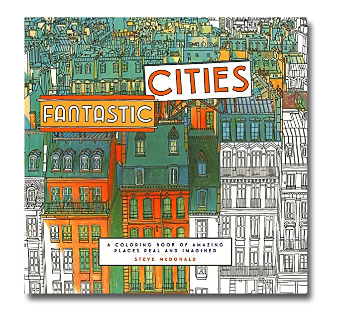 Amazon Steve McDonalds Fantastic Cities Coloring Book Arts Crafts Sewing