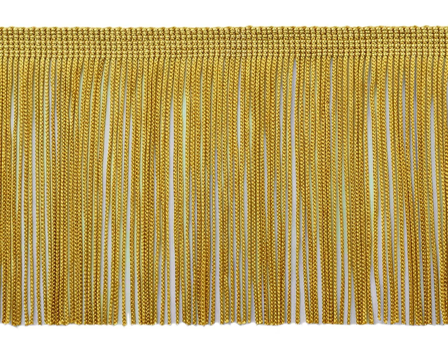 DecoPro 9 Yard Value Pack of 4 Inch Long Chainette Fringe Trim, Style# CF04 Color: Old Gold -D05 (27 Feet / 8.2M)