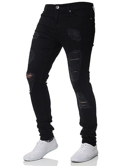 0c3b9d2d3be84 Pantalon Jean Tendance Extensible pour Homme Enzo, Super Skinny ...
