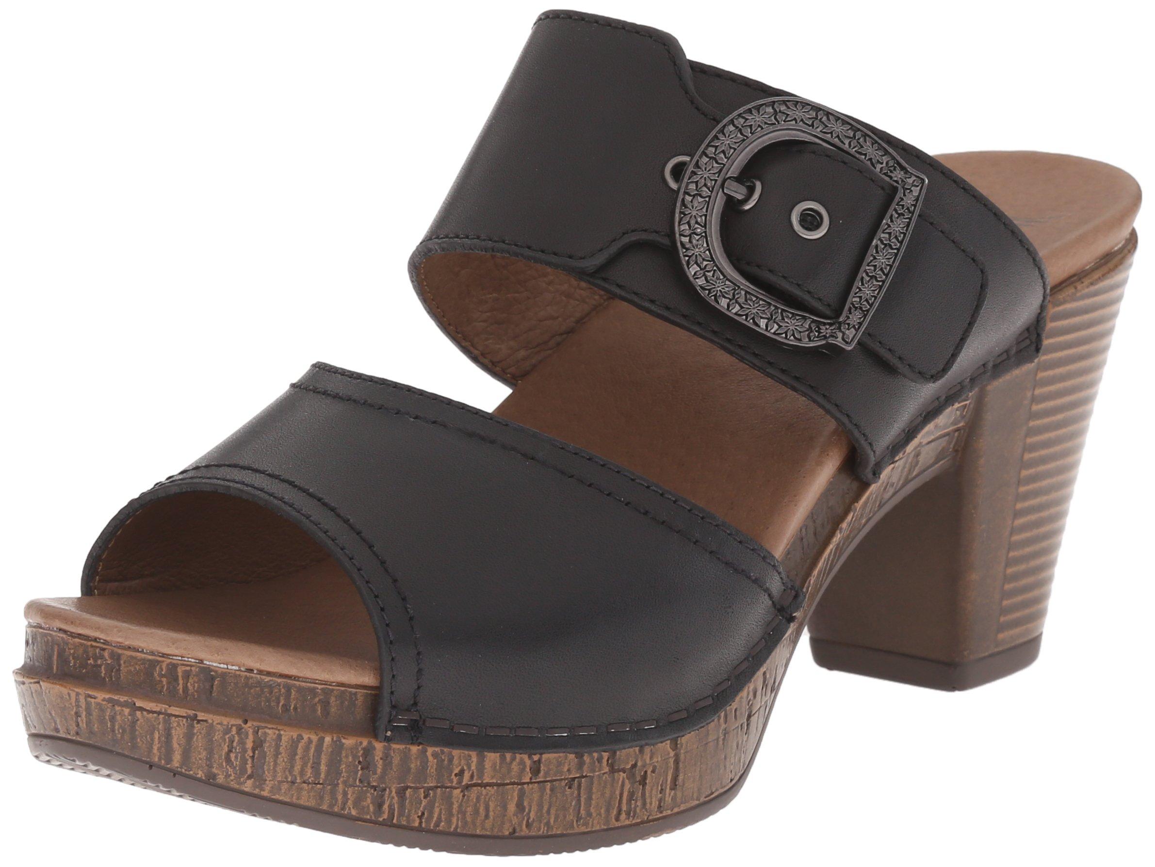 Dansko Women's Ramona Slide Sandal, Black Full Grain, 40 EU/9.5-10 M US