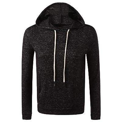 7 Encounter Women's Brushed Pull Over Hoodie with Kangaroo Pocket Sweatshirt at Women's Clothing store