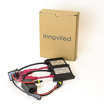 Innovited 2pcs 35w 12v HID Replacement Slim Ballast for H1 H3 H4 H7 H10 H11 9005 9006 D2r D2s All Sizes: Automotive