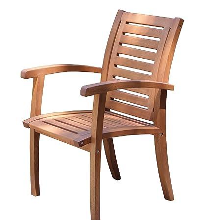 amazon com outdoor interiors 21090 luxe eucalyptus arm chair