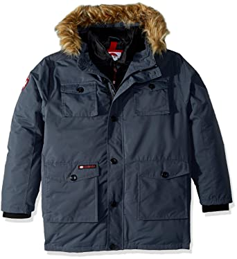 0f042fb76 CANADA WEATHER GEAR Men's Heavy Weight Parka with Vestee, Charcoal, ...
