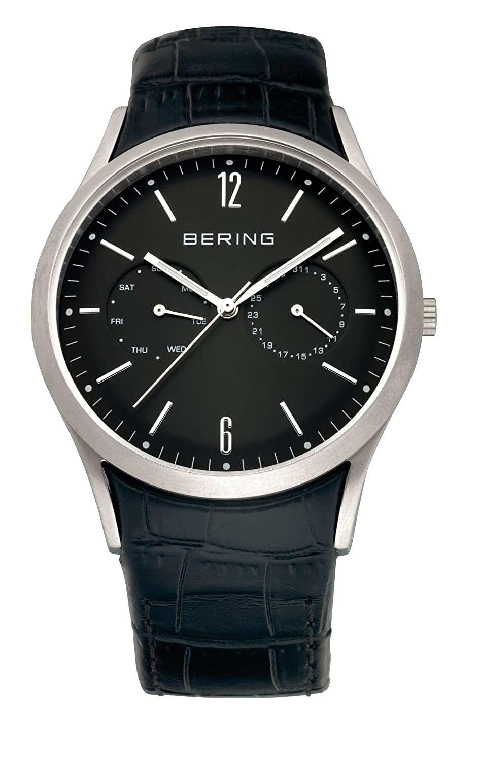 Amazon.com: BERING Time 11839-402 Classic Collection Watch with Leather Band and Scratch Resistant Sapphire Crystal. Designed in Denmark.: Watches