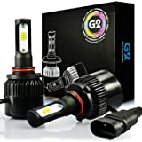 JDM ASTAR G2 8000 Lumens Extremely Bright CSP Chips 9005 All-in-One LED Headlight Bulbs Conversion Kit, Xenon White