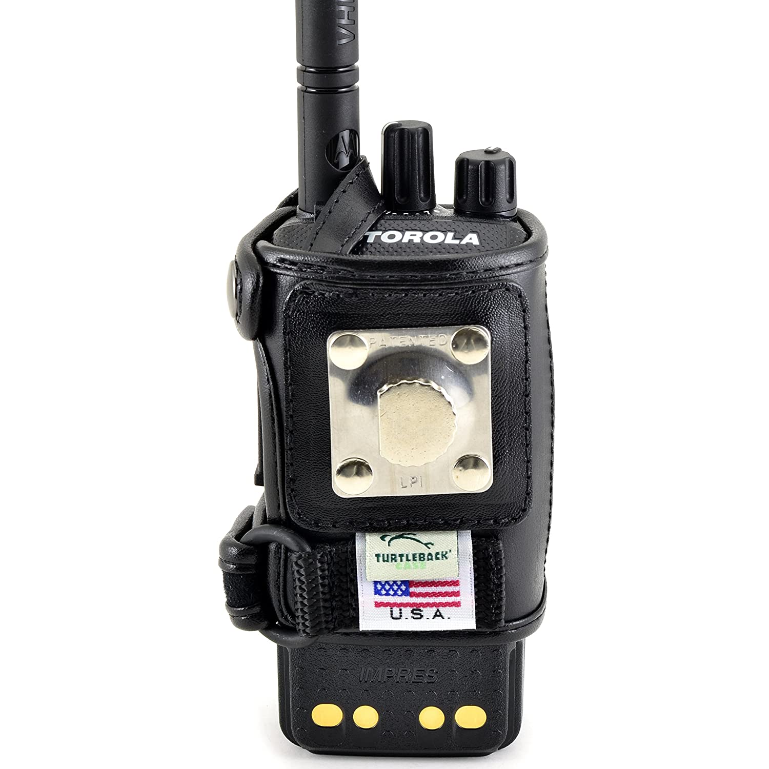 Radio holder motorola apx 6000 - Amazon Com Turtleback Motorola Xpr 3500 Belt Carry Holder Case Black Leather Duty Belt Holster With Heavy Duty Rotating Belt Clip Made In Usa Cell
