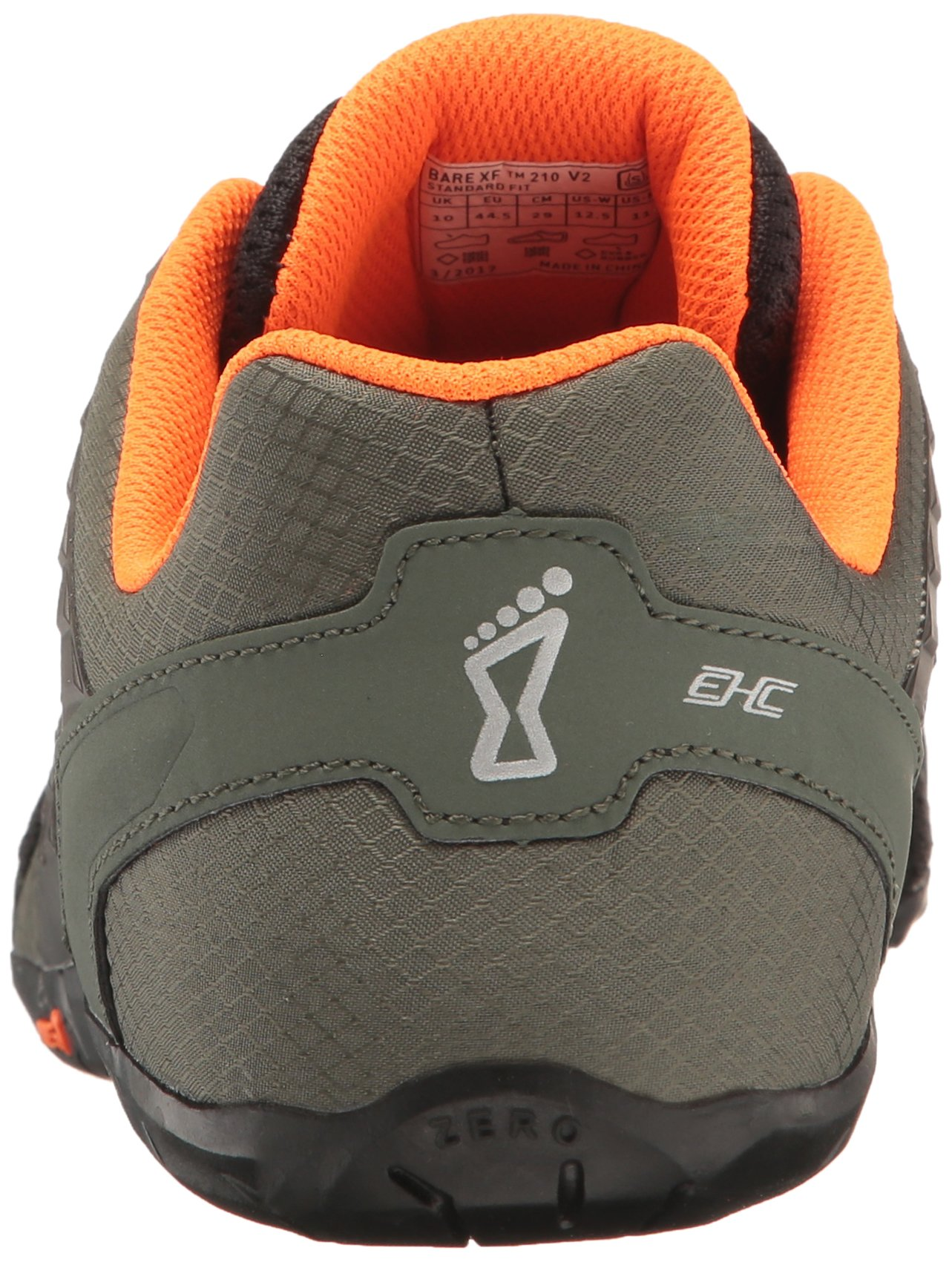 Inov-8 Men's Bare-XF 210 v2 (M) Cross Trainer Grey/Black/Orange 11 D US by Inov-8 (Image #2)