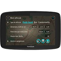 TomTom GO Professional 6250 (6 Pouces) - GPS Poids Lourds - Cartographie Europe 48 et Trafic à Vie (via carte SIM Incluse)