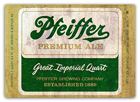 Pfeiffers Póster De Pared Metal Retro Placa Cartel Cartel De ...