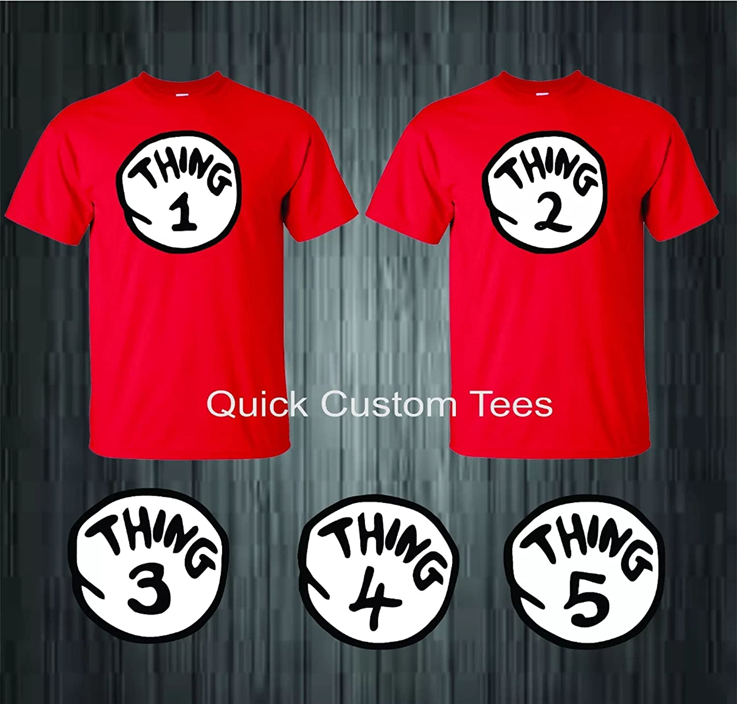 d88c33a402 Amazon.com: Thing 1 Thing 2 Matching T-shirts for Babies, Kids and Adults  Cool New (12 months , Thing 1): Health & Personal Care