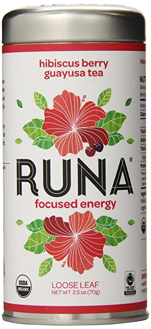 RUNA Amazon Guayusa Tea, Hibiscus Berry, 2.5 Ounce