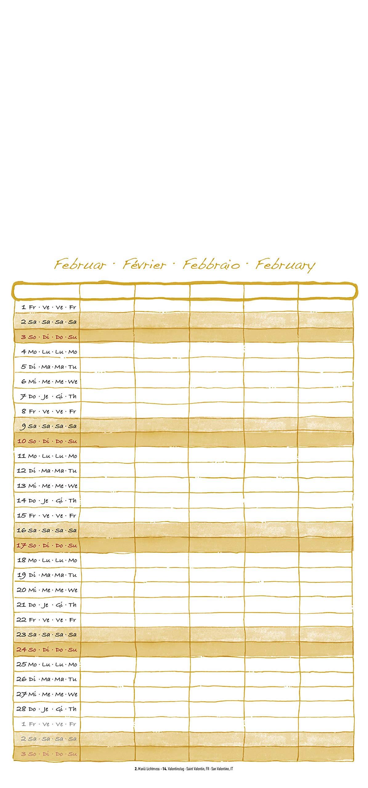 foto bastel familienplaner mit 5 spalten 2019 kalender. Black Bedroom Furniture Sets. Home Design Ideas