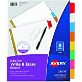 Avery Big Tab Two-Pocket Insertable Plastic Dividers, 23079