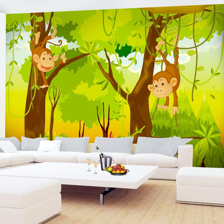 Fototapete Kinderzimmer Affen Dschnungel 396 x 280 cm Vlies Wand ...