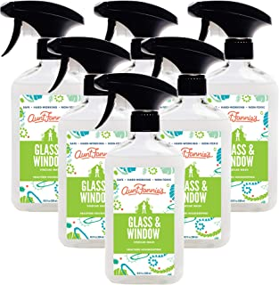 product image for Aunt Fannie's Glass & Window Cleaning Vinegar Wash - Natural Streak-Free Glass Cleaner - 16.9 oz Bottle (6-Pack)