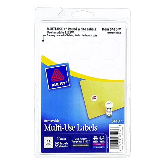 Avery self adhesive removable labels 1 inch diameter white pack avery self adhesive removable labels 1 inch diameter white pack of pronofoot35fo Gallery