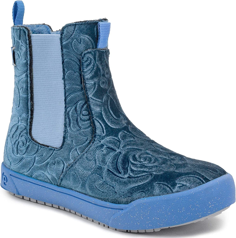13-13.5 US Blue Velvet 31 Child EU Big Kid pediped Girls Eclipse Fashion Boot