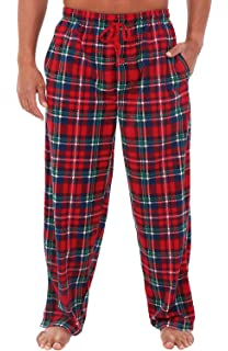 NWT Size XL Men/'s Navy Plaid Fleece Lounge//Pajama Pants by Arctic Trail
