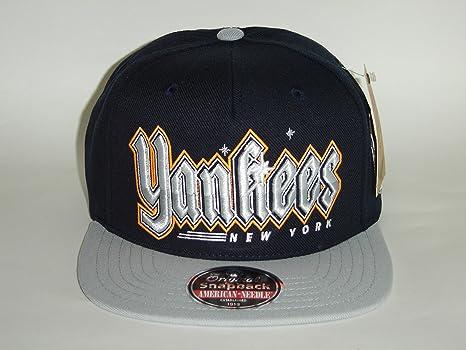 American Needle NY Yankees Rueda Script Negro 2 Tono Gorra ...