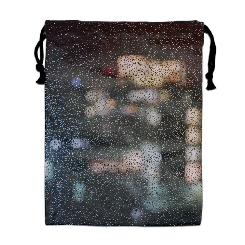 Naiyin Drawstring Gym Sport Bag Drops Glass Surface Casual Travel Bag for Adult Cool Bag