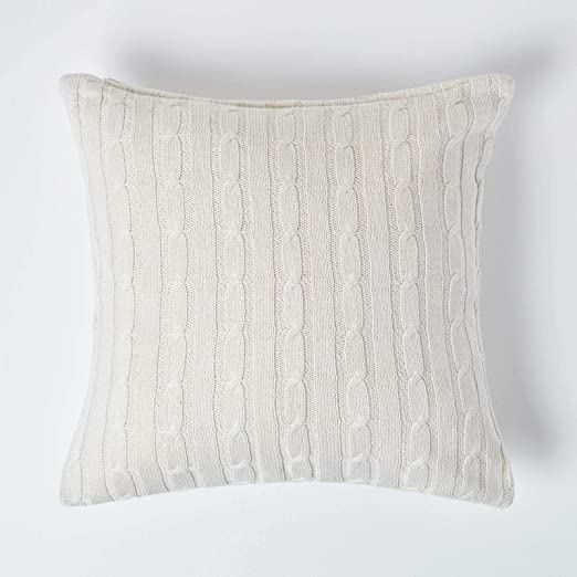 """Aran wool 16/"""" when complete Knitting pattern Nice cable Cushion Cover"""
