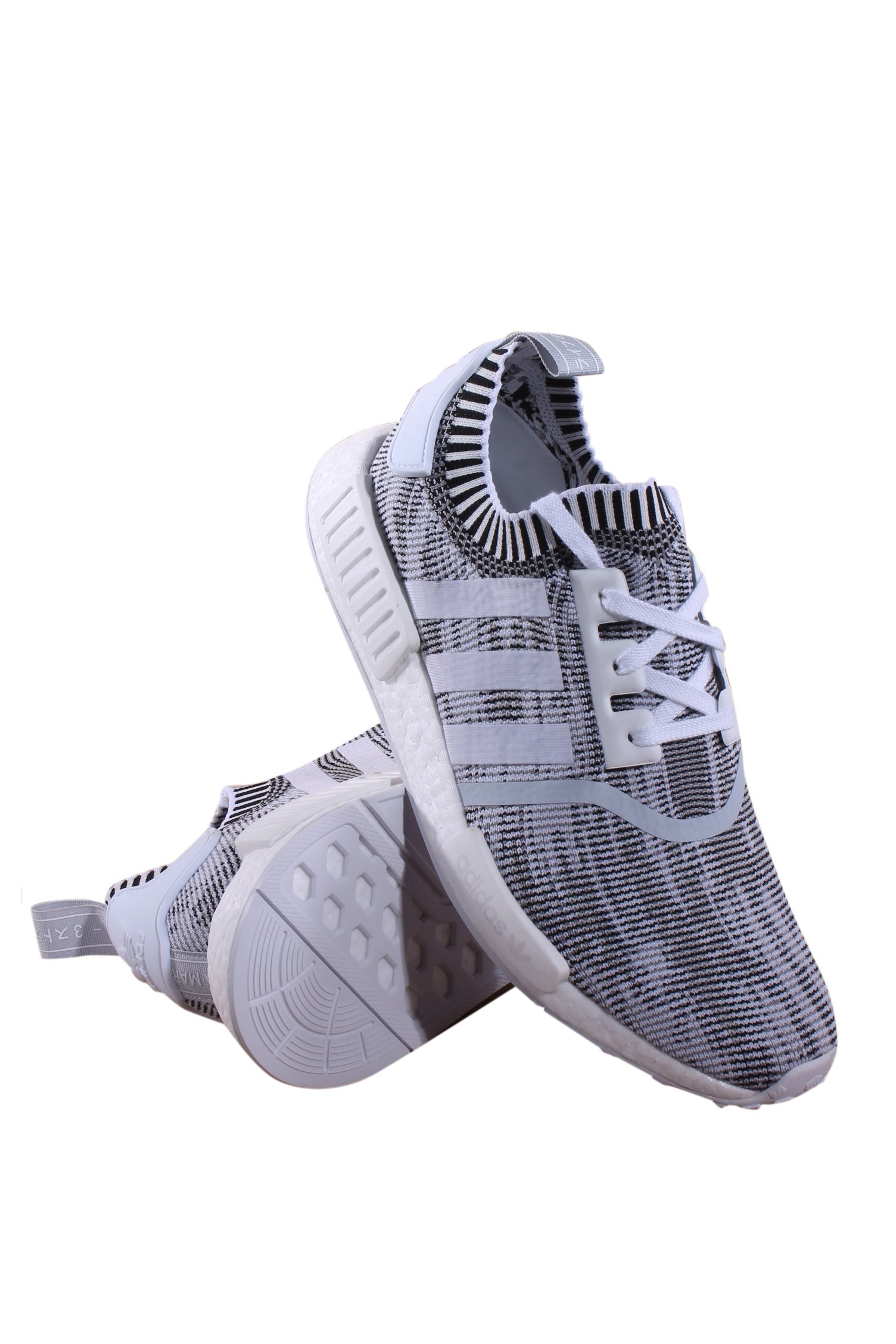 Adidas NMD R1 PK size 12. Core Black Gum White. BY1887