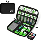 BAGSMART Travel Cable Organizer Portable Electronics Accessories Cases for Hard Drives, Charging Cords, USB Charger, Black