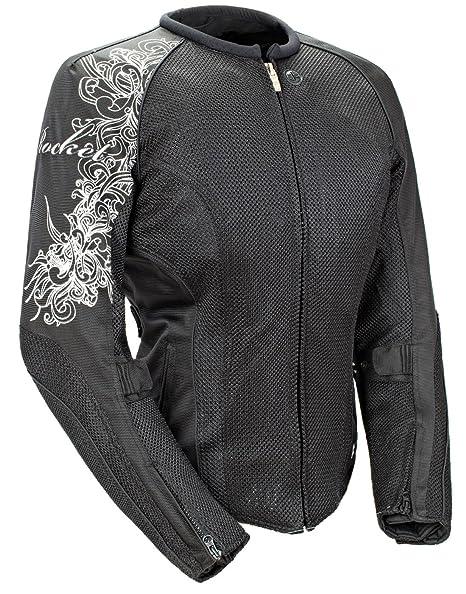 Joe Rocket Cleo 2 2 Womens Black Mesh Motorcycle Jacket Medium