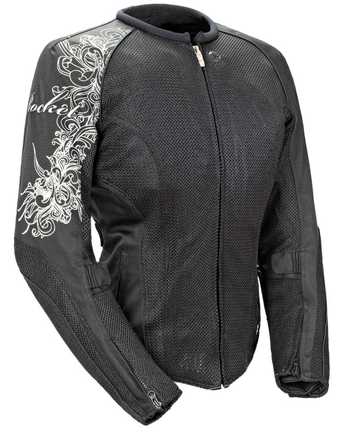 Joe Rocket Cleo 2.2 Women's Mesh Motorcycle Riding Jacket (Black/Black, XX-Large)