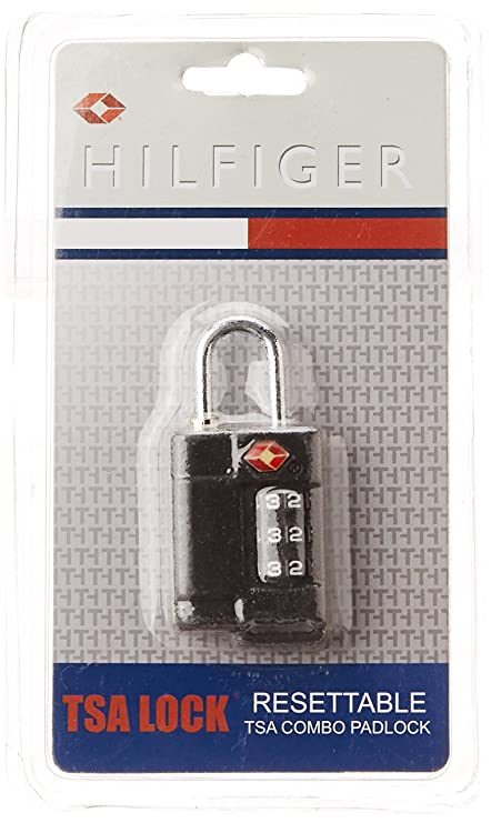 Tommy Hilfiger Black Luggage Lock (TH TSA01A24BLK)  Amazon.in  Bags ... e50adc128343